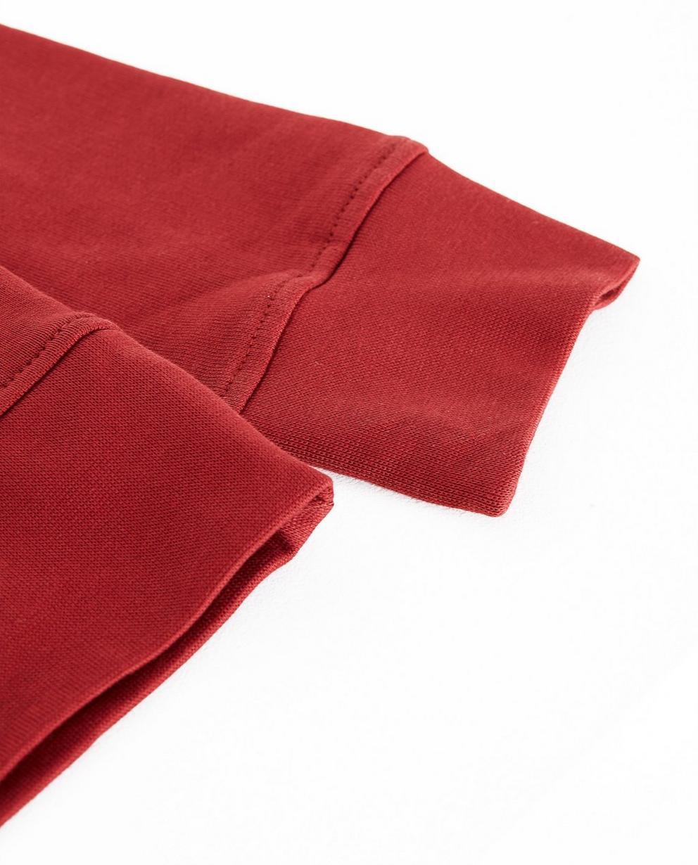 Sweater - Navy - Rode sweater met fluoprint BESTies